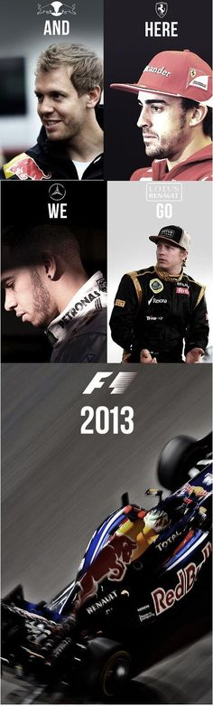 And here we go F1 2013 ...
