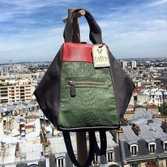 """Our last backpack """"Sac Aires Autruche"""" available on the e-shop ! -- www.laita-baparis.com/shop/"""