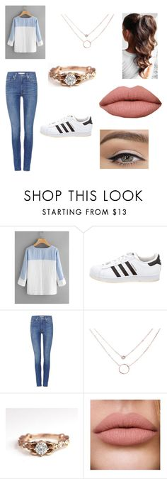 """""""Fashionable but cozy"""" by supernaturalthe100 ❤ liked on Polyvore featuring adidas and Levi's"""