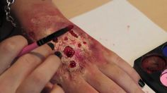 Rotting Flesh/ Zombie Skin Makeup (So easy you can do it with no brains... get it?)