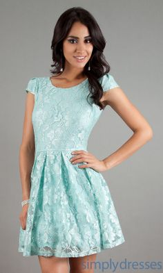Cap Sleeve Short Lace Dress