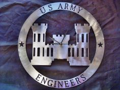 US Army Engineer Logo Metal Art Clock by TomKaysClocks on Etsy, $48.00   ****I WANT THIS!