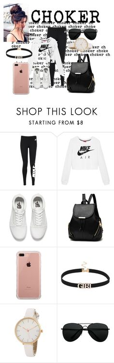 """Untitled #180"" by estersc ❤ liked on Polyvore featuring NIKE, Vans and Belkin"