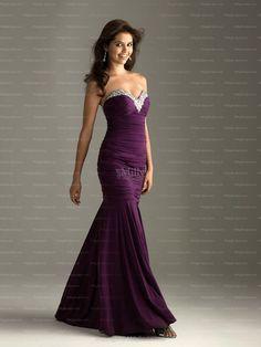 Trumpet/Mermaid Sweetheart Ruffles Taffeta Floor-length Evening Dress