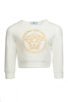 b8103580 Girls Gold Medusa Sweater at PureAtlanta.com Versace Jeans, Kids Girls,  Boys,