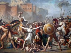 Intervention of the Sabine Women / Jacques Louis David 1799
