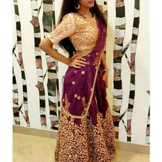 🥰 ✨Our client is looking so beautiful in this amazing purple color fine zari and dori embroidered lehenga choli set at just Rs Indian Bridal Lehenga, Luxury Clothing, Ethnic Style, Bridal Outfits, Lehenga Choli, Bride Groom, Formal Dresses, Fashion Design, Color