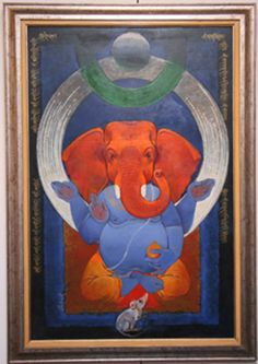 SAG/A./318 : Suruchi Art Gallery Shri Ganesh, Ganesha Art, Krishna, Om Namah Shivaya, Lord Ganesha Paintings, Easy Drawings For Kids, Indian Folk Art, Indian Art Paintings, Elephant Art