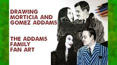 Drawing Morticia & Gomez - Addams Family fan art Gomez Addams Family, Morticia And Gomez Addams, Raul Julia, John Astin, Original Tv Series, The Originals Tv, The Munsters, Steve Aoki, Tv Couples