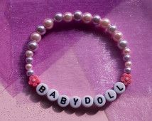 BABYDOLL ~ pastel pink and purple pearlescent bracelet