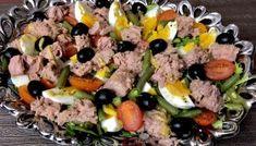 Sałatka nicejska z tuńczykiem Cobb Salad, Sushi, Lunch, Ethnic Recipes, Blog, Fit, Party, Gastronomia, Haha