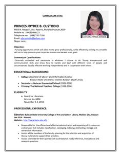 sample resume for ojt j pinterest sample resume job