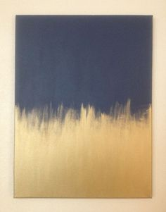 DIY Artwork Navy and gold painted canvas. DIY Artwork Navy and gold painted canvas. Gold Diy, Art Diy, Diy Wall Art, Wall Decor, Diy Tableau, Diy Canvas, Painted Canvas, Gold Canvas, Canvas Ideas