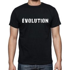 évolution, French Dictionary, Men's Short Sleeve Rounded Neck T-shirt