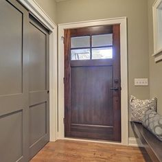 One of the wonderful things about wood doors is that each door is unique due largely to the wood species used. This door is shown in Walnut. You can preview many other wood species by using the Wood Selector Tool by clicking the link in our bio. #SimpsonDoor #FrontDoor #Entry #WoodDoor #Exterior #HomeImprovement