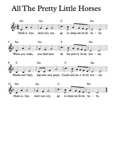 Free Sheet Music - Free Lead Sheet - All The Pretty Little Horses