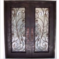 Exceptional Doors - Hand Crafted in 12 Gauge Wrought Iron by Monarch Custom Doors This door, and any other door design is available in any size, or as single or double doors, or doors with sidelights or transoms. Iron Front Door, Glass Front Door, Front Doors, Front Entry, Glass Doors, Bedroom Closet Doors, Bedroom Door Design, Wrought Iron Doors, Metal Doors