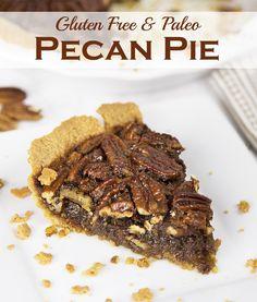 Healthy Gluten Free Pecan Pie (also Paleo Friendly!)... it's really good!