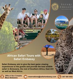 Safari Embassy staff has vast experience and are equipped with the knowledge you will need from someone you would choose to plan your safari.