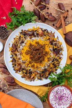 Rice Recipes, Side Dish Recipes, Veggie Recipes, Indian Food Recipes, Healthy Recipes, Ethnic Recipes, Middle Eastern Dishes, Middle Eastern Recipes, Sashimi