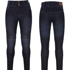 fc9e577a4ca7c6 MotoGirl Ellie Kevlar Jeans – Sizes 8 to 14 available now! Motogirl's new  skinny stretch
