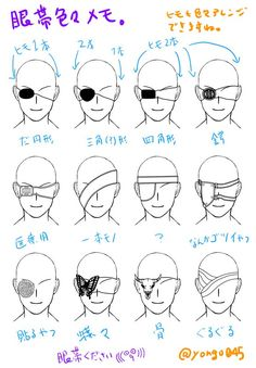 How to with eye coverings