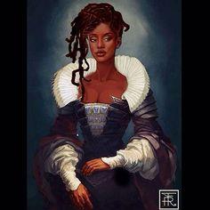 "fyblackwomenart: "" ""Marie Antoinette"", illustrated by @nonvmx """