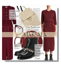 """""""Major Marsala Dresses"""" by martso ❤ liked on Polyvore featuring Temperley London, Givenchy, Madewell and marsaladress"""