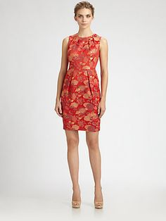 Carmen Marc Valvo - Brocade Dress - Saks.com