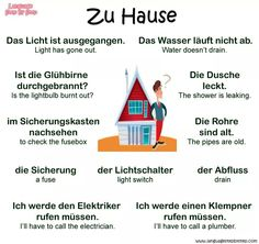At home - German Language Study German, German English, Learn English, German Grammar, German Words, German Resources, Deutsch Language, Germany Language, German Language Learning