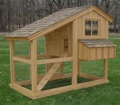 I like this chicken coop design. It could be converted to a chicken tractor easily by adding wheels. If you add flooring to the midsection and leave access to upstairs or downstairs from the same door by the ramp, it would add square footage for living space.