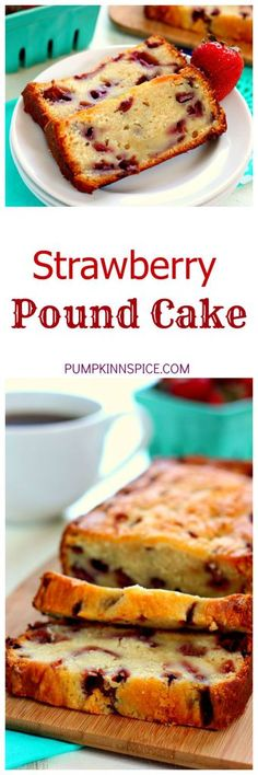 Filled with fresh strawberries, cream cheese, and a touch of vanilla, this pound cake is moist, flavorful, and bursting with strawberries. This cake contains just a few ingredients and is a breeze to whip up.