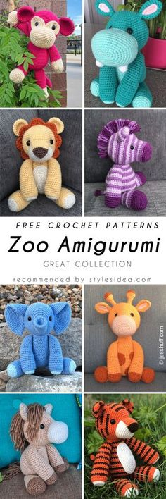 Amigurumi Zoo Animals Crochet Free Patterns Collection | Crafts Ideas