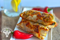 Spicy Spinach Turkey Eggrolls (dairy free)