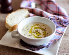 Indulge yourself in a bowl of creamy mushroom soup with loads of mushroom bits.