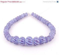 Handmade Lampwork Glass Beads  set of 41  by JanelDudleyBeads, $48.00