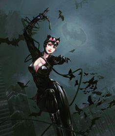Heros Comics, Comics Girls, Dc Heroes, Marvel Dc Comics, Catwoman Selina Kyle, Batman And Batgirl, Batman Artwork, Neko, Super Hero Outfits