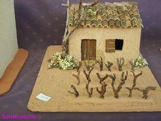 Santons et crèches de Provence Antique Christmas, Dollhouses, Champs, Dollhouse Miniatures, Christmas Decorations, Statue, Antiques, Painting, Nativity Sets