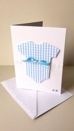 baby boy onesie card new baby card baby thank by JDooreCreations, $3.35