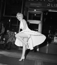 Marilyn Monroe on the set of the The Seven Year Itch (1955).