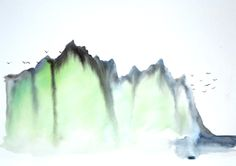 I want to go see the real fjords of Norway... -Martina Vesik aquarelle