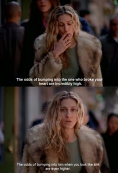 carrie bradshaw. wouldn't mind lookin like this on my shitty days.