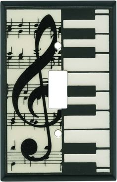 ClassicaL Music Ceramic Light Switch Plates, Outlet Covers, Wallplates