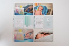 Page created by Gabby Robinson, featuring the Baby Boy Edition Core Kit.