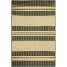 Brown Jordan Madison Stripe Rug in Charcoal - BedBathandBeyond.com