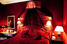 royal red bedrooms - Google Search