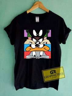 Looney Tunes And Friends Graphic Tees Shirts. Cute Graphic Tees, Cute Plus Size Graphic Tees, Cute Graphic Tees For Women, Cute Cheap Graphic Tees 90s Shirts, Cartoon T Shirts, Cheap T Shirts, Boys T Shirts, Cute Graphic Tees, Graphic Tee Shirts, T Shirt Logo Design, Shirt Designs, Looney Tunes