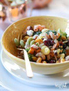 Fall Harvest Pasta Salad   inspiredbycharm.com