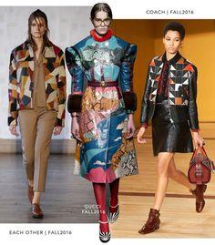 Patchwork– Coach: Outono 2016, Each Other: Outono 2016 e Gucci: Outono 2016