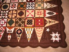 My Dear Jane- Chocolate Jane is finished! - Blogs - Quilting Board